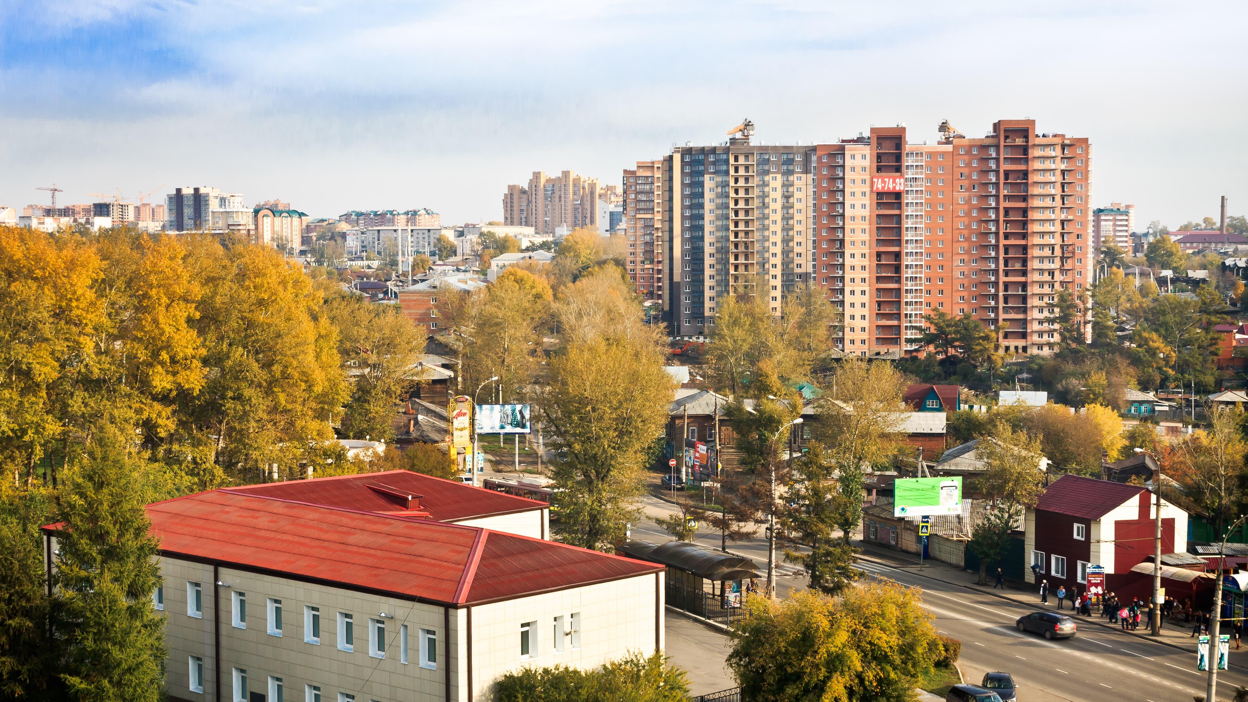Переулок Строительный, 8 - Иркутск - вид издалека