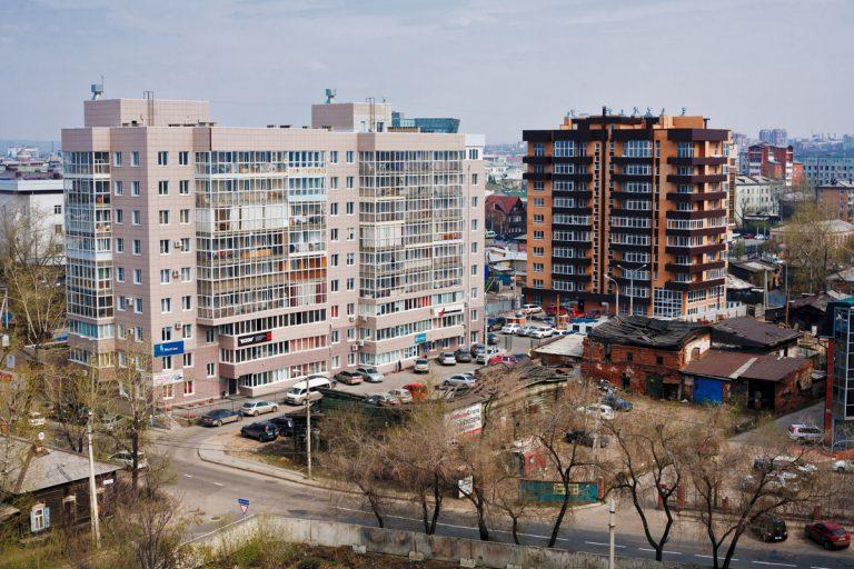ЖК Парус в Иркутске издалека