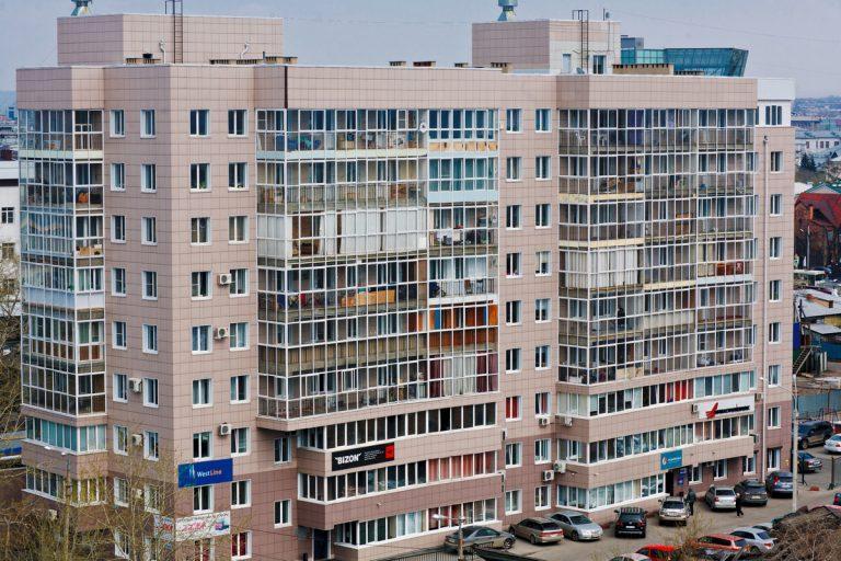 ЖК Парус в Иркутске - вид с птичьего полета