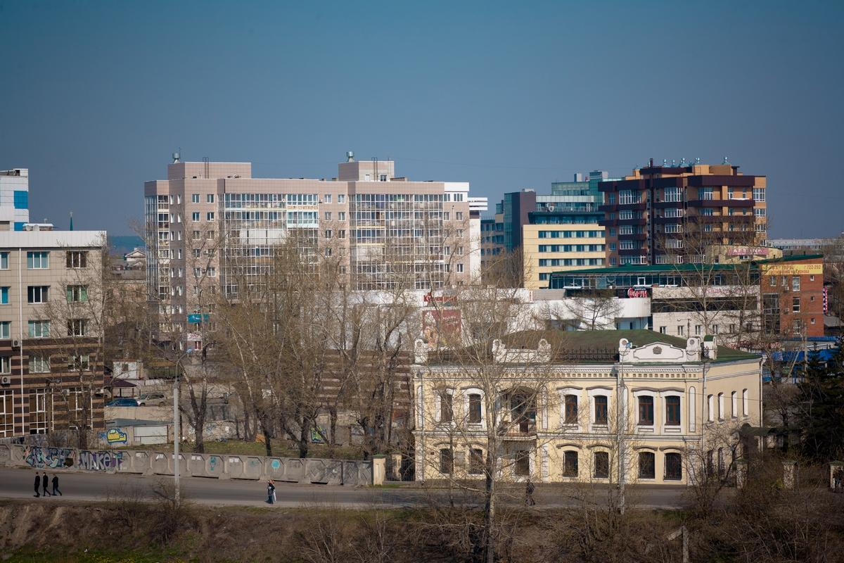 ЖК Парус в Иркутске - вид издалека