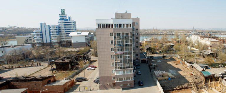 ЖК Парус в Иркутске - вид с левого торца