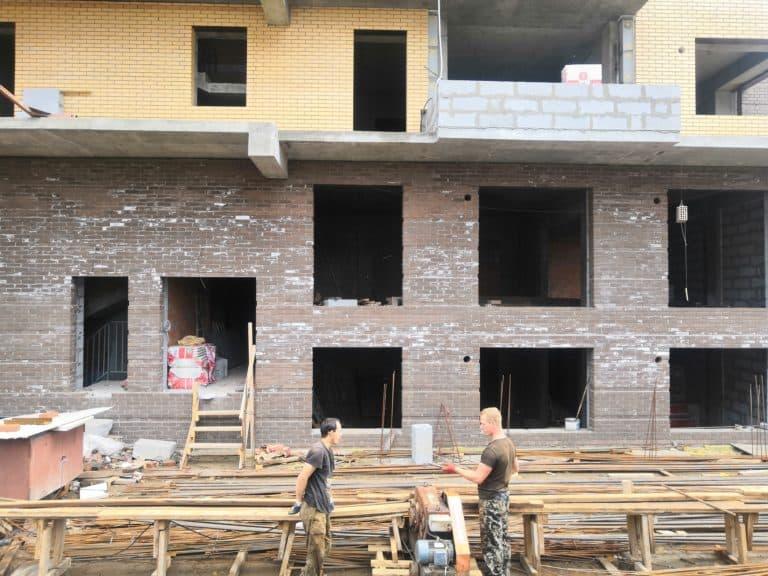 Процесс строительства ЖК Ангара в Иркутске