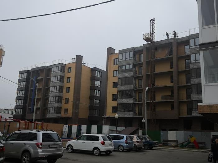 ЖК Ангара в процессе строительства