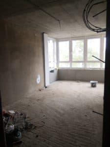 Строящаяся квартира, черновая отделка