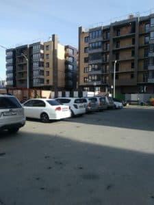 Парковка на стройплощадке