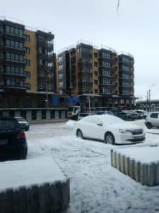 Парковка напротив ЖК Ангара