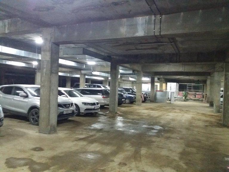 ЖК Квадрум строительство подземной парковки май 2020